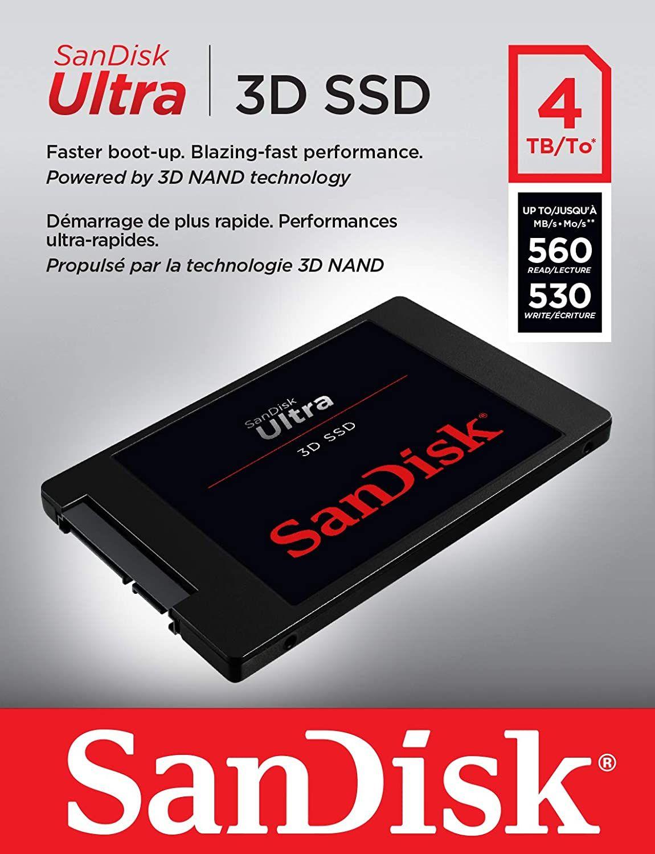 Sandisk Ultra 4TB 3D SSD @Amazon ES