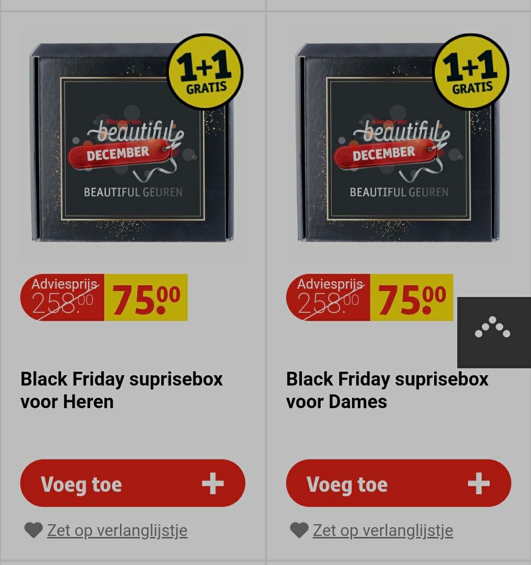 8 luxe parfums (in verrassingsbox) voor €75,-