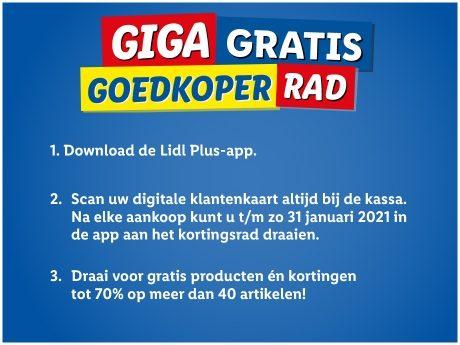 Draai voor gratis producten en kortingen tot 70% bij de LIDL