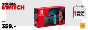 Dagdeal: NINTENDO Switch Rood en Blauw (2019 revisie) + extra docking station, screenprotector en case