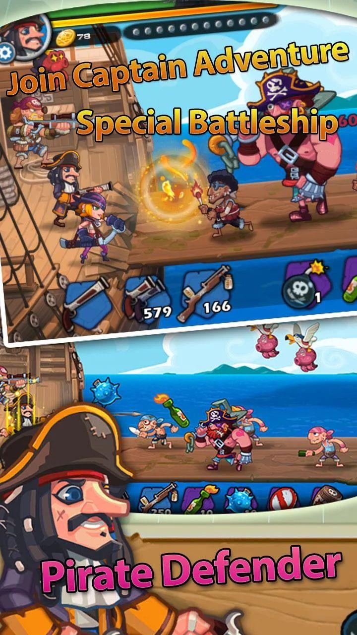 Android game: Pirate Defender Premium: Captain Shooting Offline