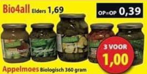 Biologische Appelmoes met agavesiroop 1kg €1 @ Die Grenze