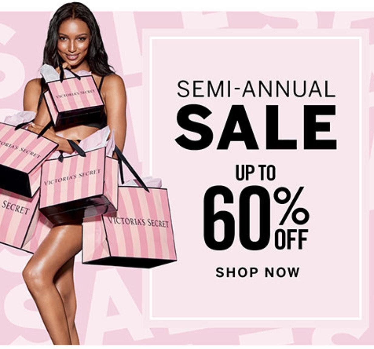 Semi sale tot 60% korting bij Victoria's Secret