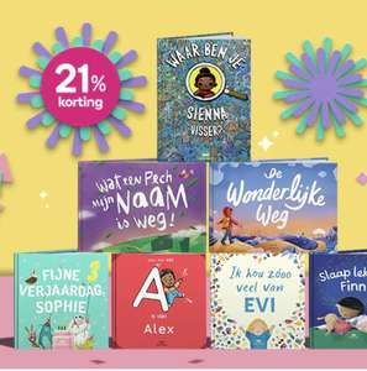 Korting op alle Wonderbly kinderboeken