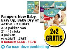 2+2 gratis op Pampers @ Hoogvliet