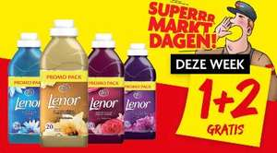Lenor wasverzachter 1 + 2 gratis @ Dekamarkt & Dirk