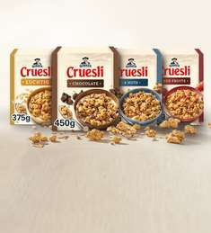 Quaker Cruesli® 450 gr/375 gr: van €2,99 voor €1,-