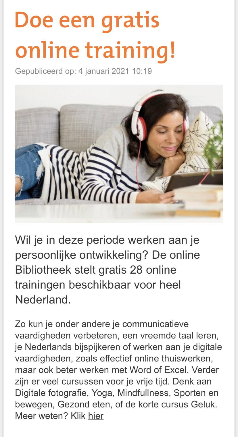 28 online trainingen gratis @ Koninklijke Bibliotheek