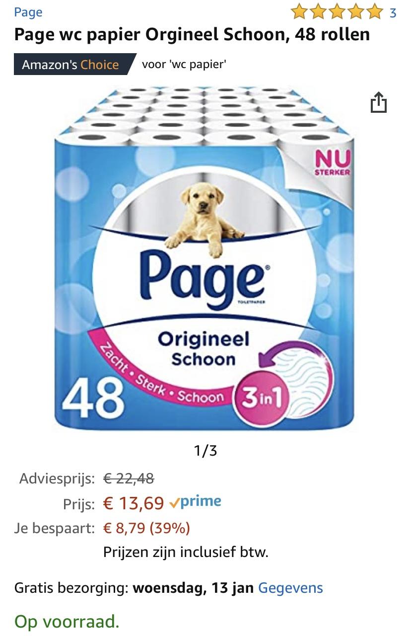 Page wc papier, 48 rollen