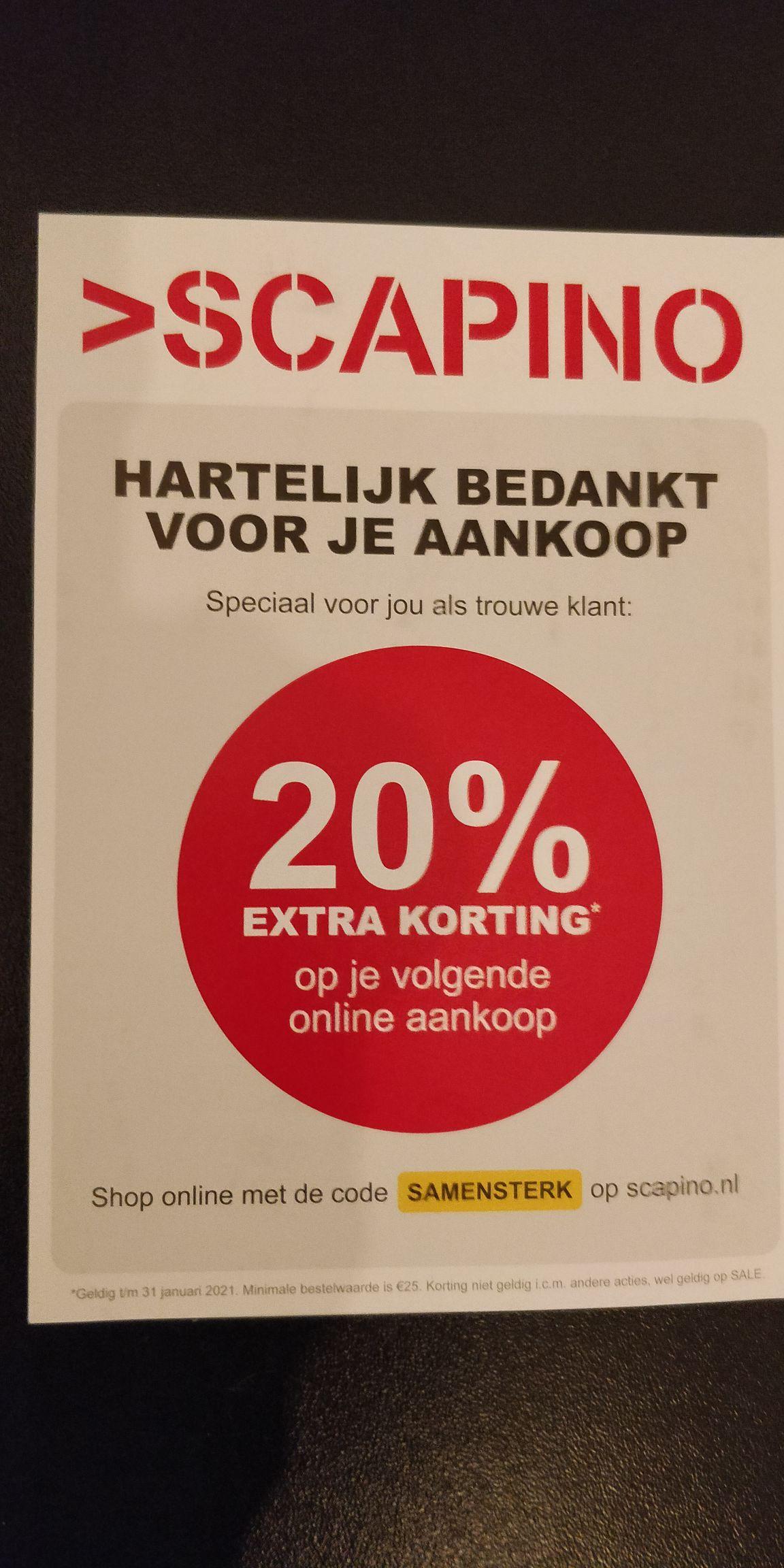 Scapino kortingscode 20% korting (ook op sale)
