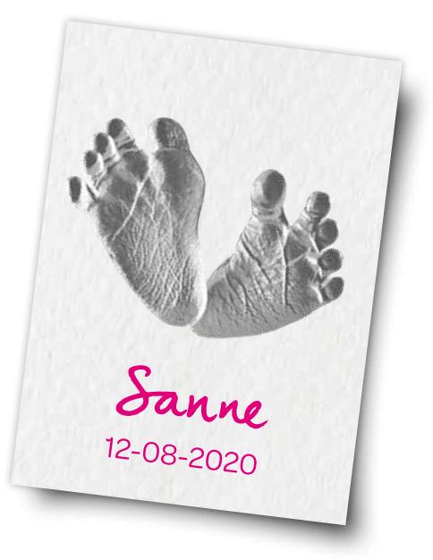 Gratis Baby Voetprint op Aquarelpapier