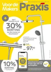 30% korting op alle kranen & douchesets met Praxis Plus