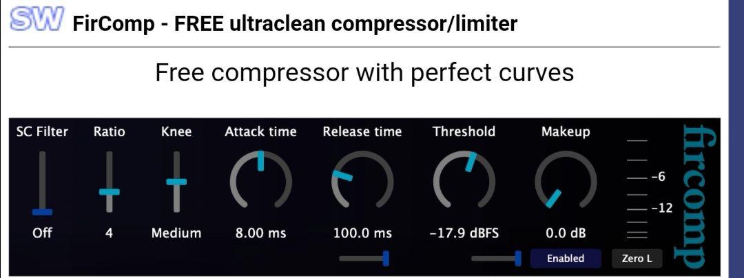 Jon V Audio FirComp Compressor audio plugin