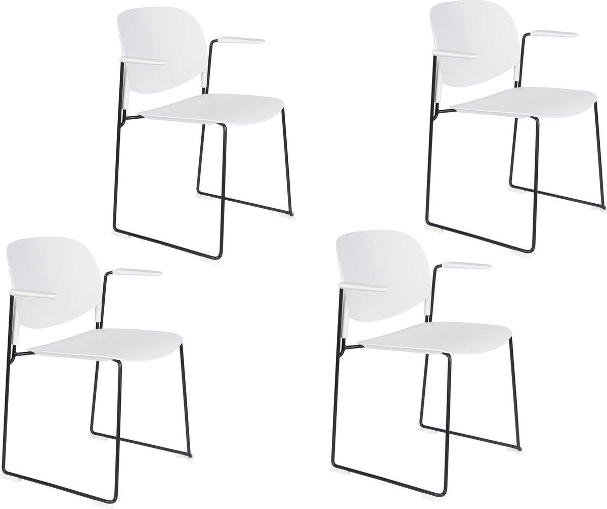 Set van 4 Feliz Stacks stoelen (diverse kleuren) vanaf €100,99 @ Bol.com