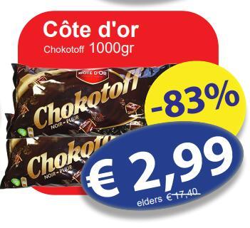 1kg Côte d'Or Chokotoff @ Die Grenze