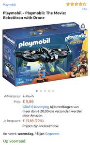 Playmobil The Movie: Robotitron with Drone @ Amazon NL