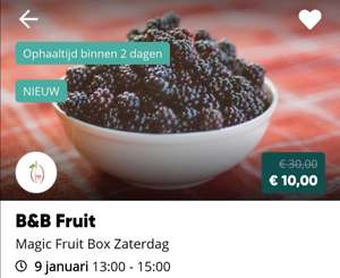 TGTG Fruitbox 5kg Bramen en 2kg Stoofperen zaterdag @ Slijk-Ewijk / Nijmegen