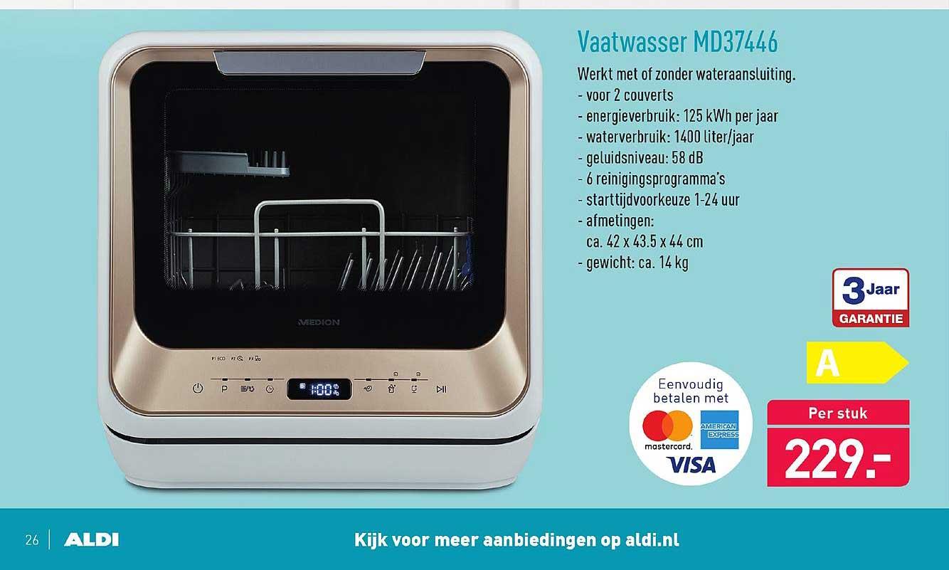 Mini vaatwasser Medion MD37446 bij Aldi