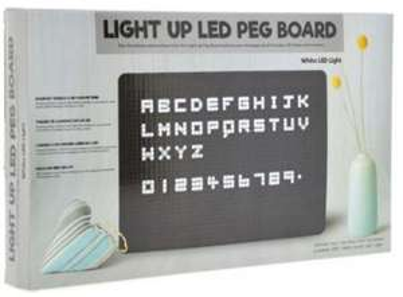 Light Up Letterbord met LED Verlichting inclusief 120 Letters en Cijfers @ Dagknaller