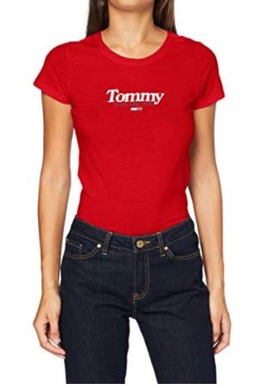 Tommy Hilfiger dames T-shirt in o.a. rood en roze