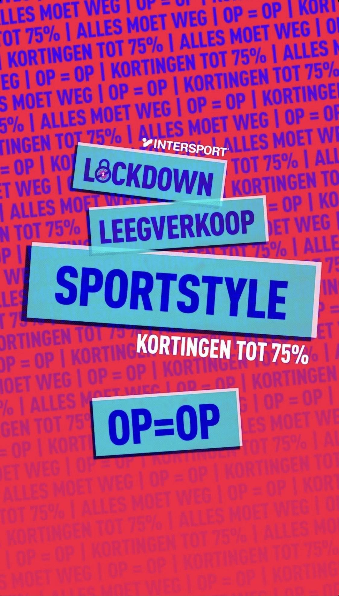 Intersport lockdown leegverkoop!