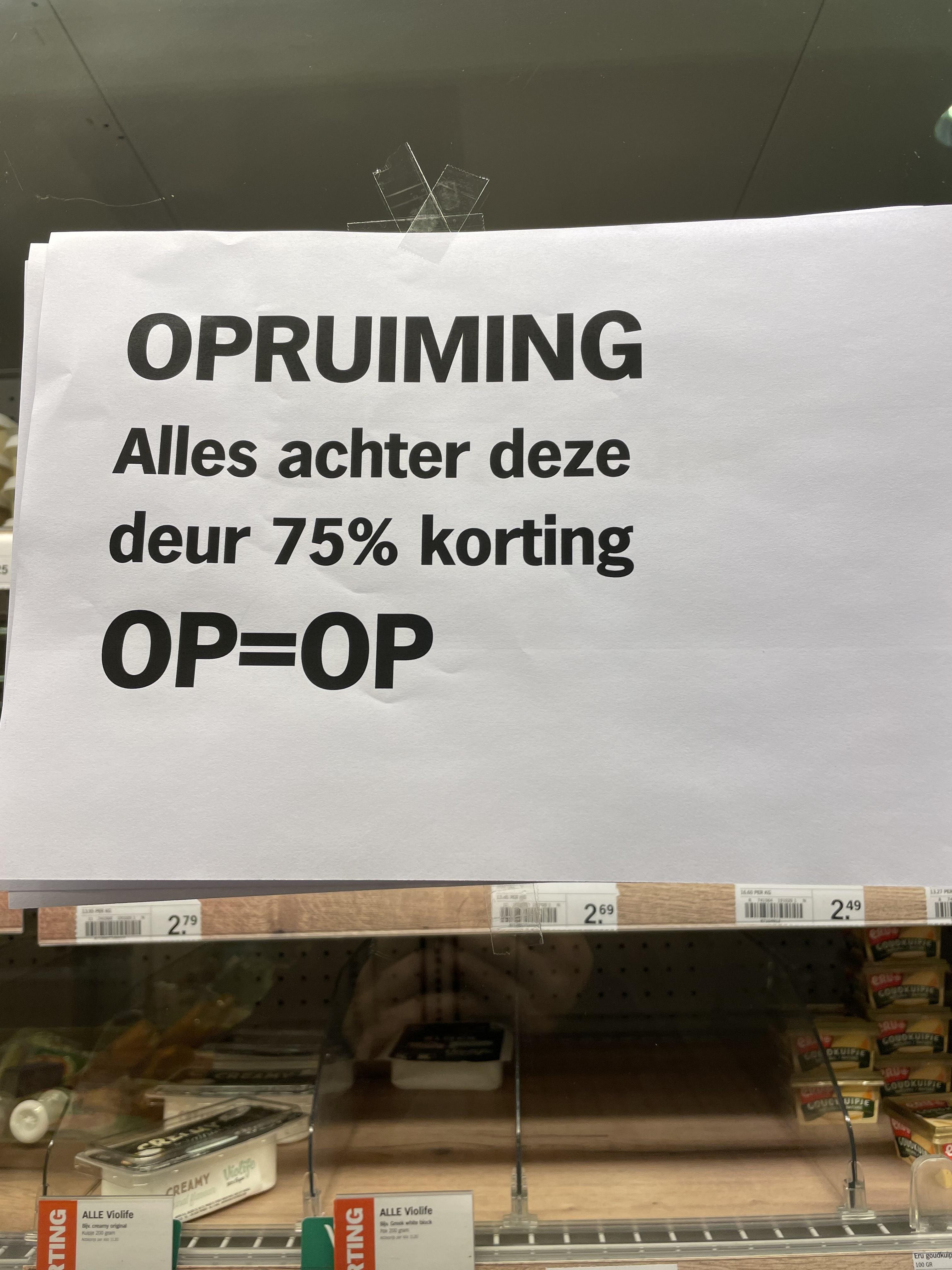 [LOKAAL] Tot 75% korting op versproducten bij Albert Heijn Veenendaal