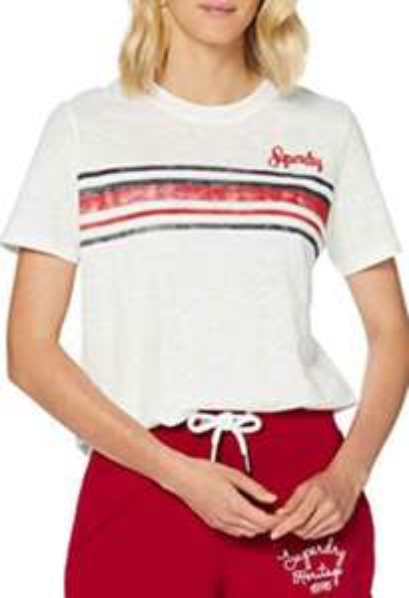 Superdry RETRO STRIPE TEE dames t-shirt
