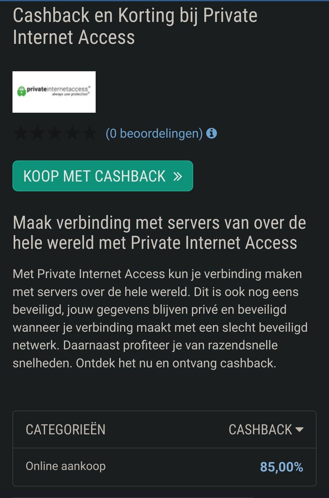 PIA private internet access vpn 3 JAAR
