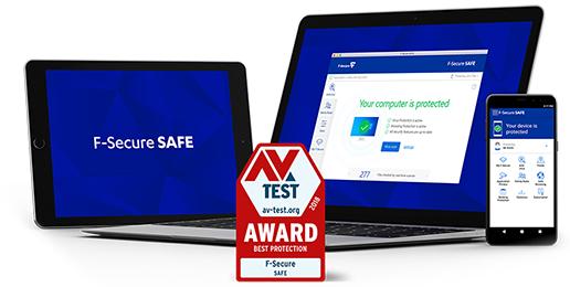 F‑Secure Safe 6 maanden gratis voor 3 apparaten