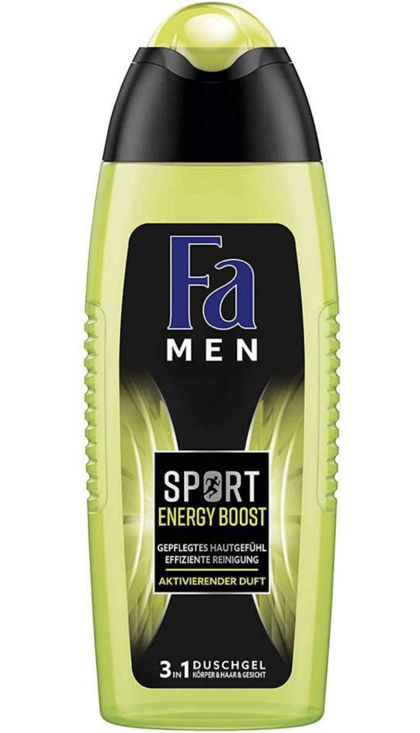 4x 250 ml Fa Men Sport Energy Boost 3in1 douchegel voor nog geen €0,50/stuk (abo)
