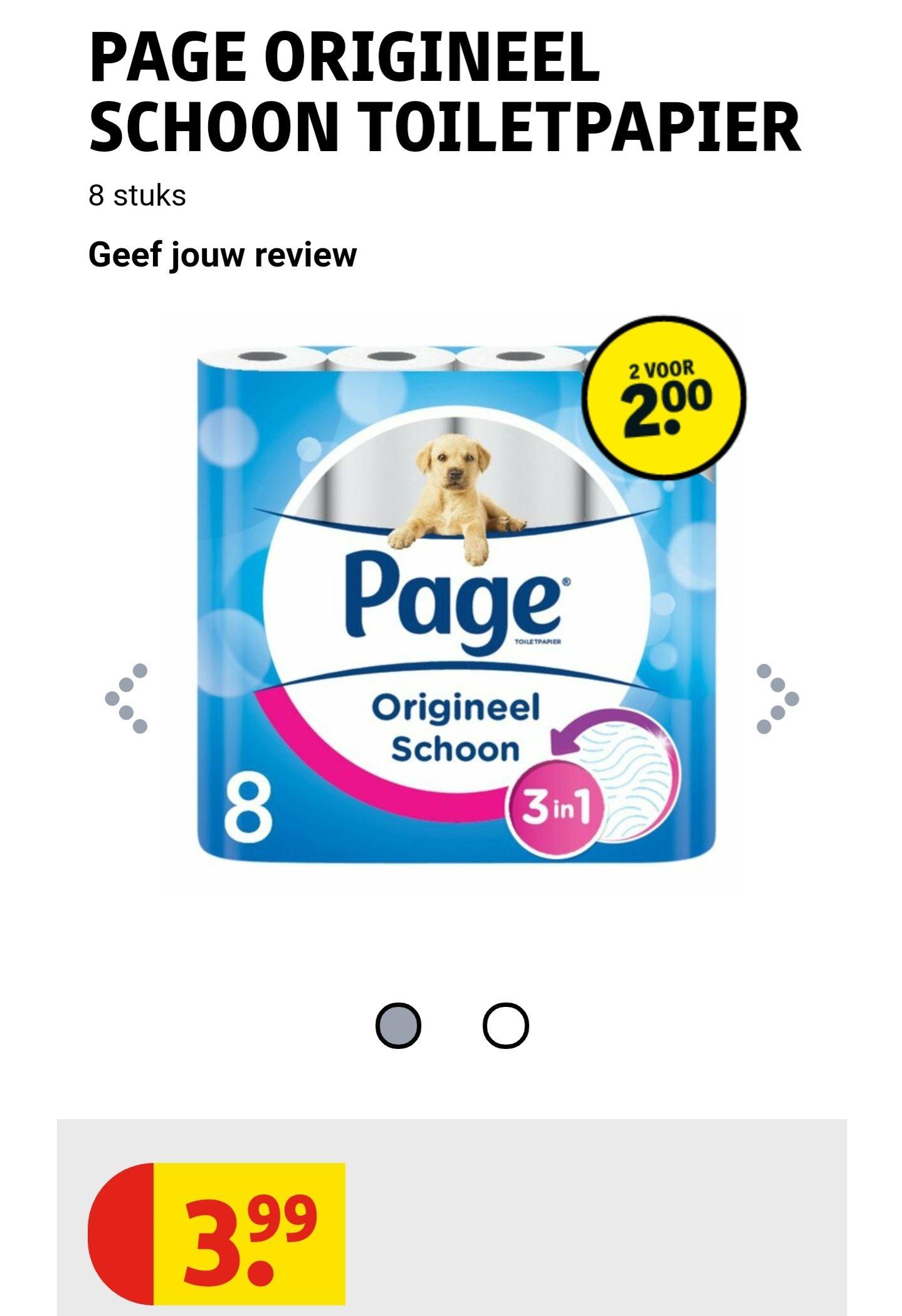 Kruidvat: Page 8 rollen toiletpapier nu 2 à 8 rollen voor 2 euro