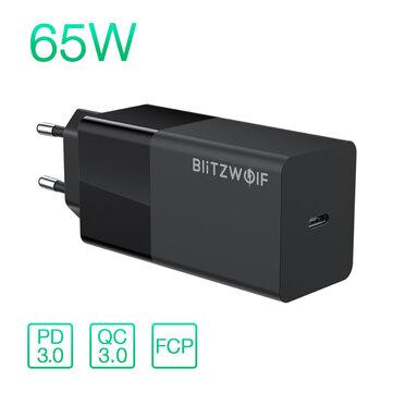 Blitzwolf BW-S17 65W USB-C oplader PD3.0 QC3.0 voor €15,53 @ Banggood