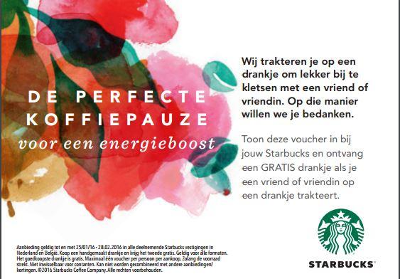 Tweede handgemaakt drankje gratis @ Starbucks