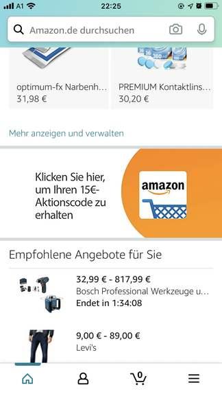 €15 kortingscoupon bij eerste app aanmelding (minimale besteding €30)