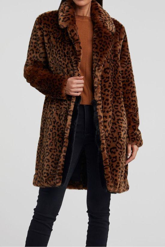 Yaya Jas Faux Fur With Animal Print [was €149,95]