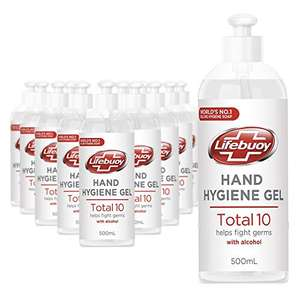 12 x 500ml Unilever Lifebuoy Hand Disinfectant Handgel