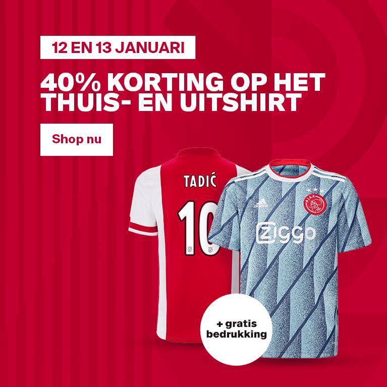 Ajax Shirt 40 procent korting. En gratis bedrukken