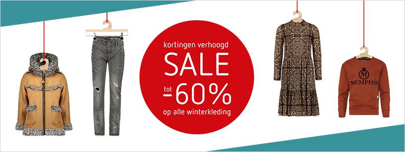 Wintersale tot 60% korting bij Kleertjes.com