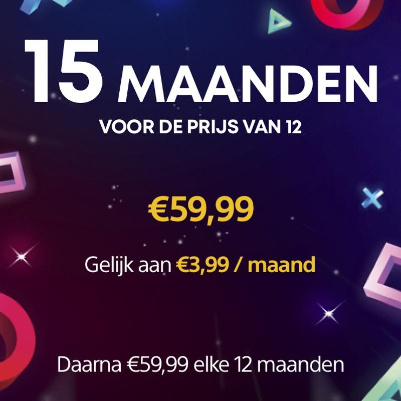 PlayStation Plus 15 maanden voor de prijs van 12 maanden
