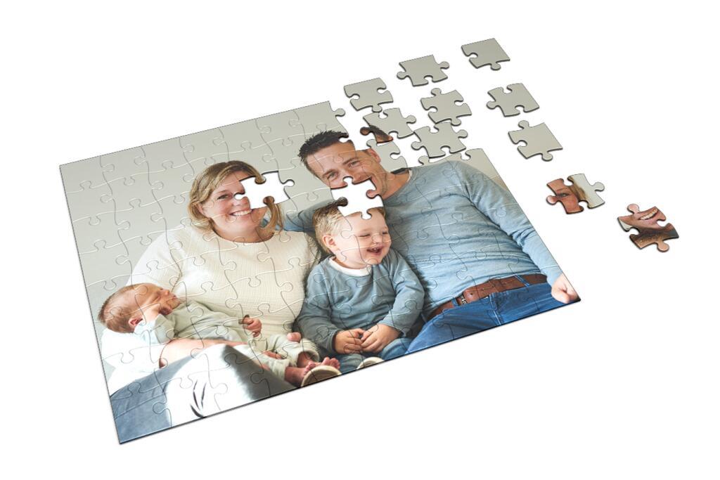 Eigen foto op puzzel v.a. €4,93 per stuk @ Fotoproducten.nl