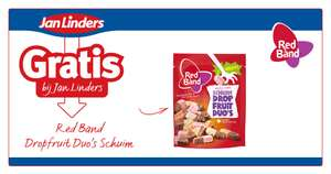 Gratis Red Band Dropfruit Duo's Schuim bij Jan Linders @ kortingisleuk