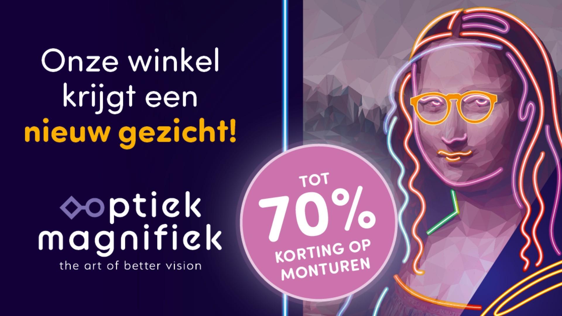 Tot 70% korting op exclusieve merkmonturen @ Optiek Magnifiek Groningen (verbouwingsopruiming) [LOKAAL]