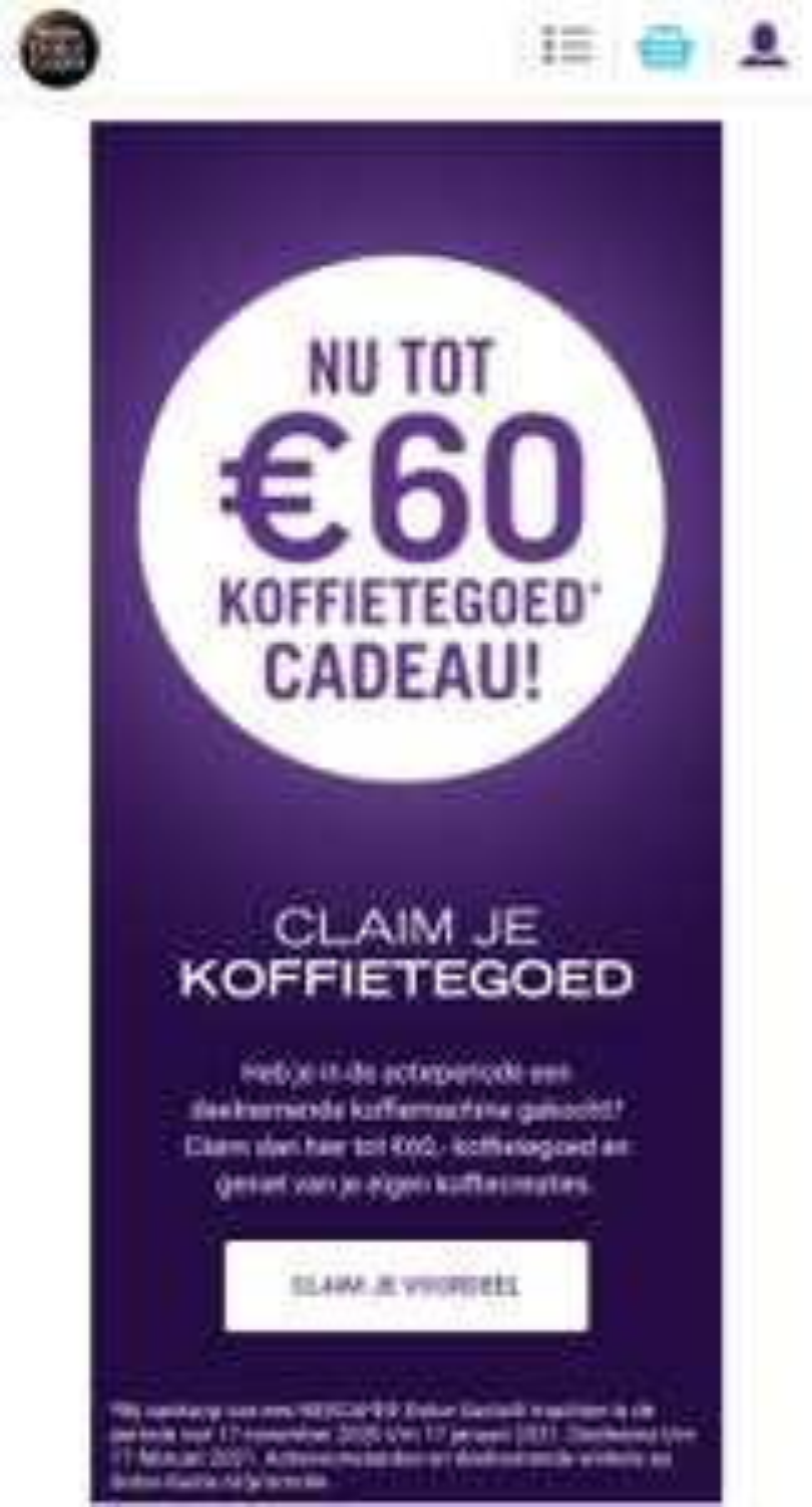 (Tot) €60 koffietegoed bij Dolce Gusto (lees omschrijving)