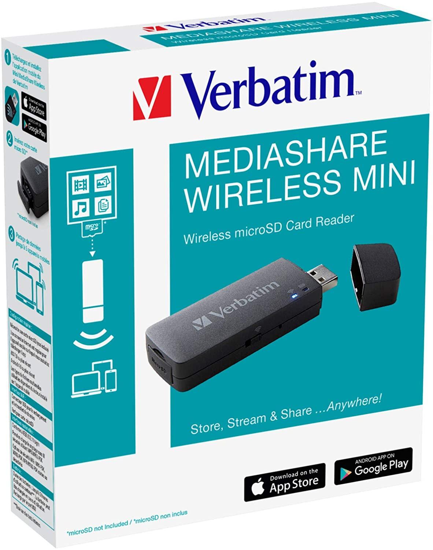 Verbatim MediaShare Mini - draadloze microSD-kaartlezer @ Amazon.nl