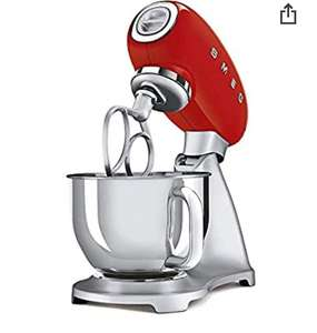Smeg SMF02RDEU Keukenmachine - jaren '50 (rood)