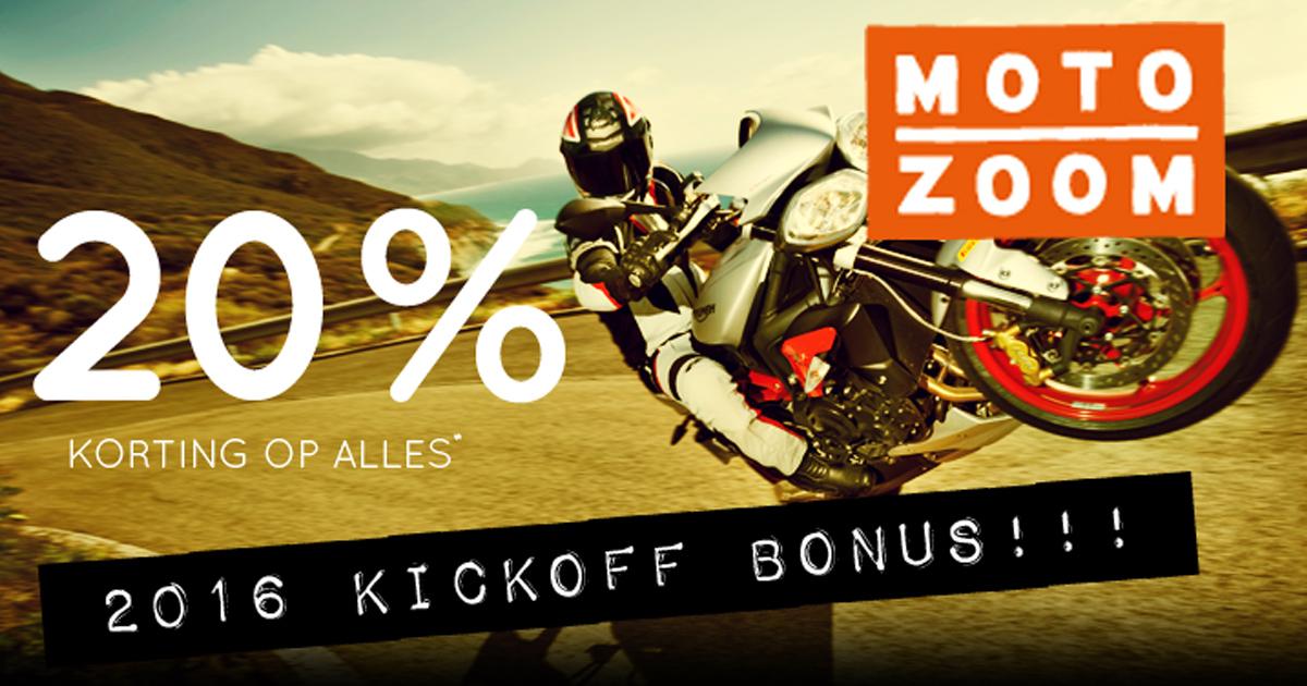 20% korting op (bijna) alles | MotoZoom