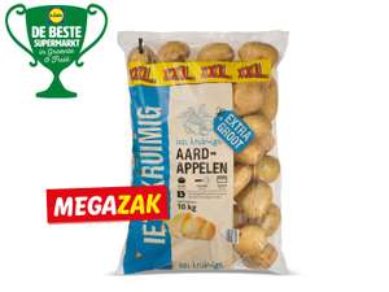 Kruimige aardappelen megazak van 10kg voor € 2.99