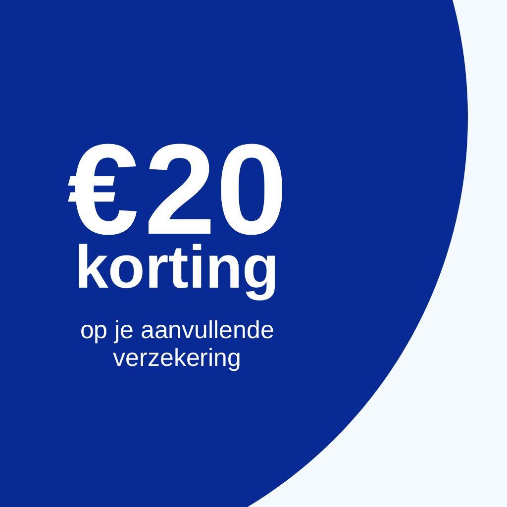Via Samengezond €20 korting op Menzis / PMA / Leefkracht voor punten