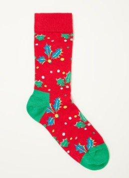 Voor de vroege vogels: Happy Socks holly kerstsokken voor €2,98 @ De Bijenkorf