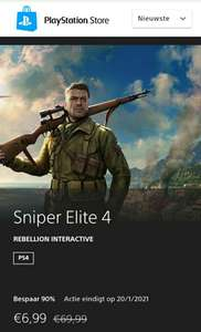 Sniper Elite 4 PS4 in Playstation Store